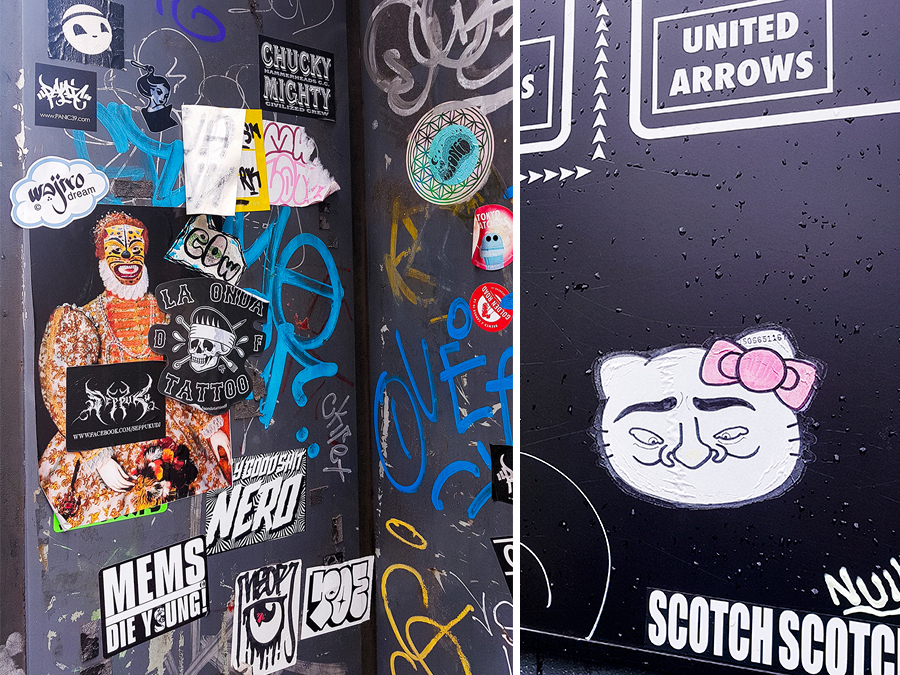 Street art in Harajuku, Tokyo.