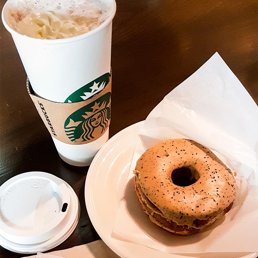 Earl Grey donut in Starbucks, Tokyo.