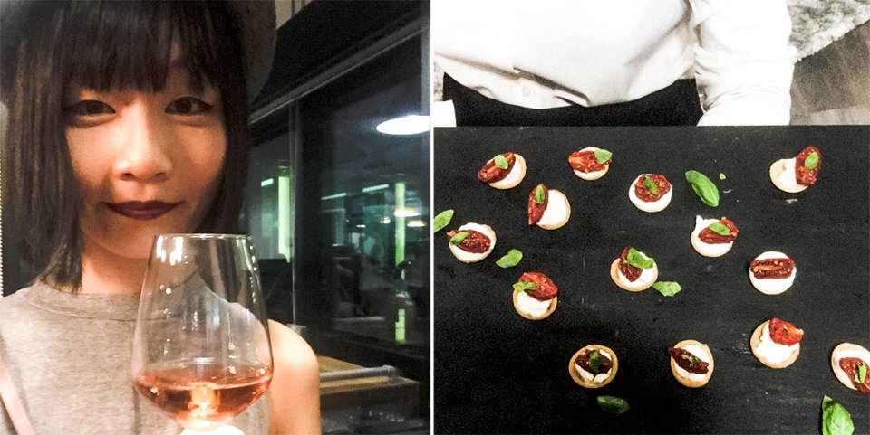 Food and drinks at Zalora Inspires event.