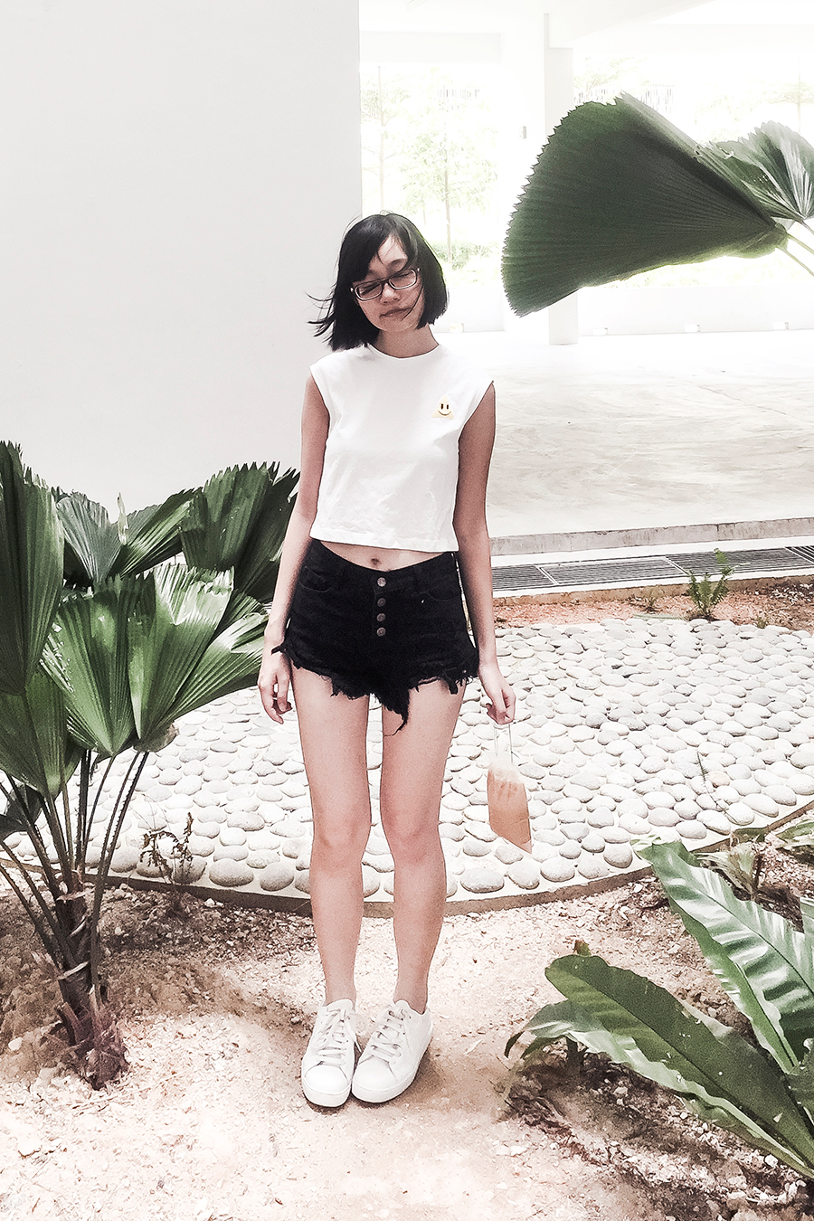 Minimal outfit for a trip to Children's Biennale at National Gallery Singapore.