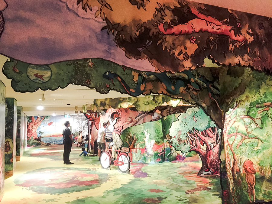 The Enchanted Tree House by Sandra Lee at National Gallery Singapore.