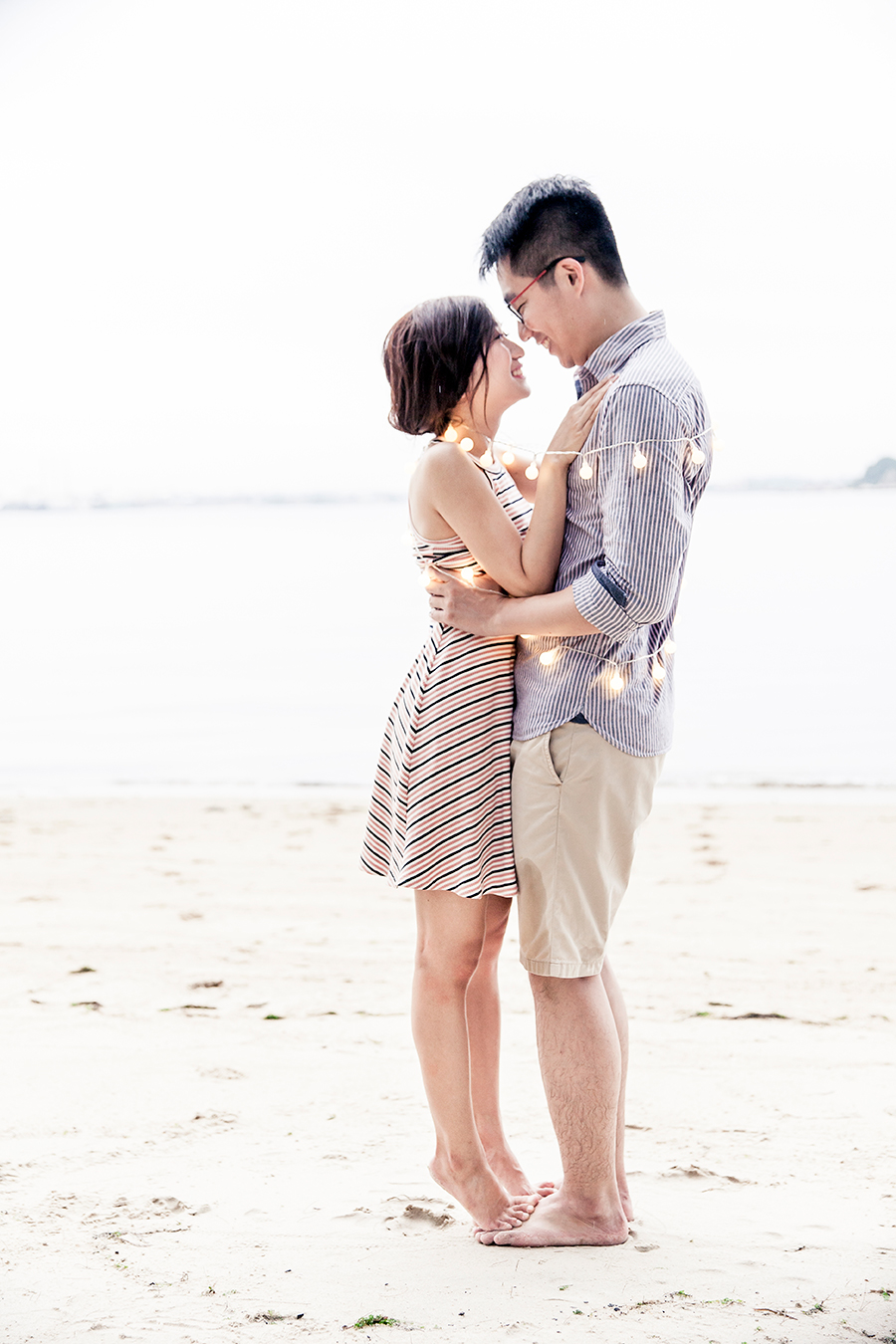 Beach prewedding photoshoot for RJ & JR, Singapore.