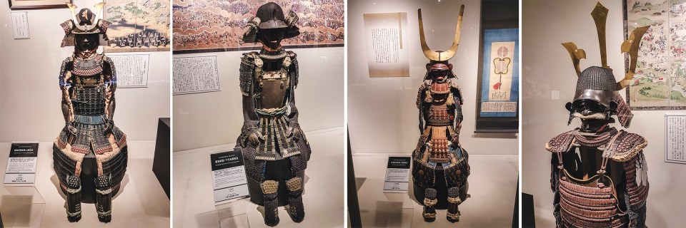 Yasukuni Shrine Museum: Sengoku Jidai & Edo Period Battle Wear exhibit.