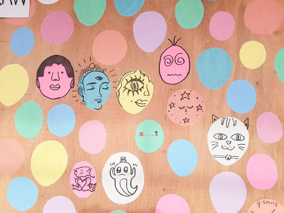 Illustration board at MOX at Artbox Singapore 2018.