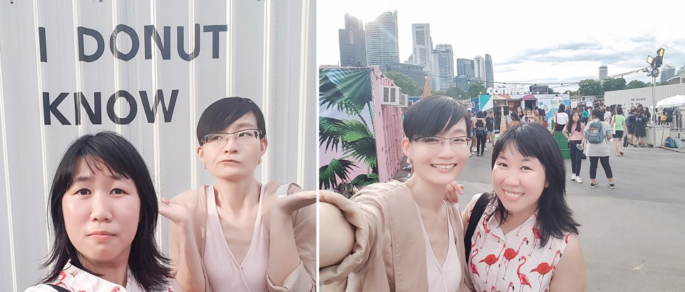 Wefie with Kooling at Artbox Singapore 2018.