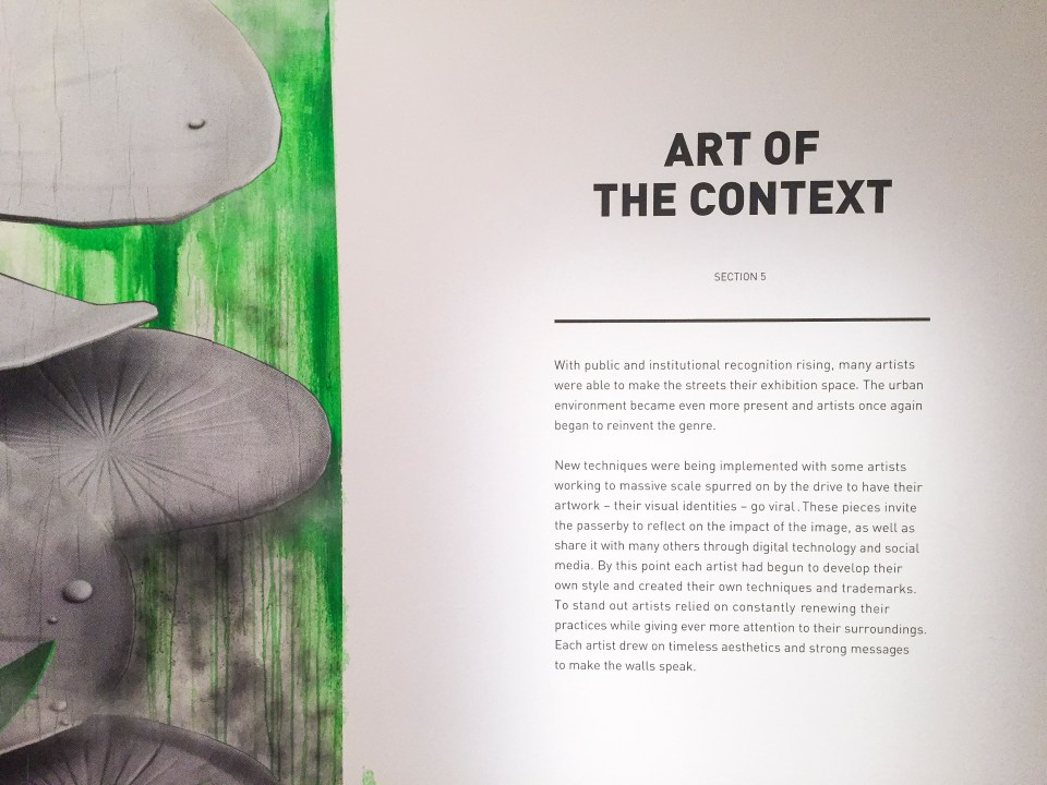 Art of the Context at Art From the Streets exhibition at the ArtScience Museum, Singapore.