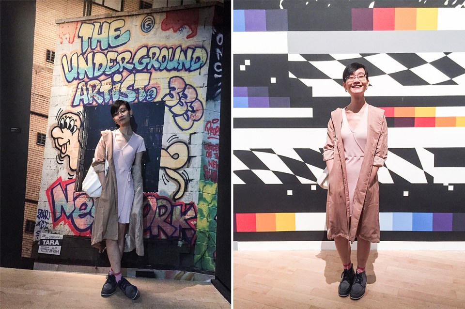 Outfit for Art From the Streets exhibition at the ArtScience Museum, Singapore.
