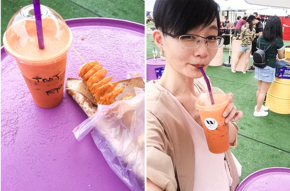 Thai iced milk tea at Artbox Singapore 2018.