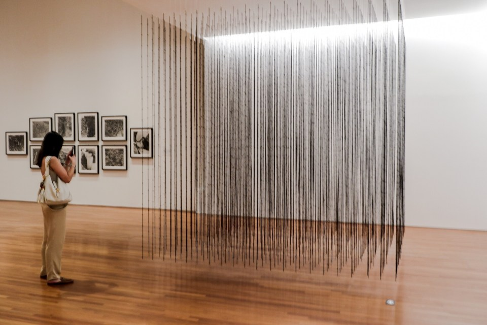 Impenetrable by Mona Hatoum at the National Gallery Singapore.