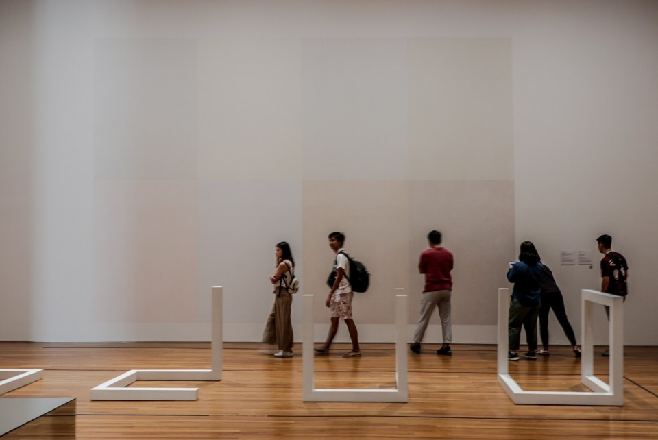 Wall Drawing #338 by Sol LeWitt at the National Gallery Singapore.