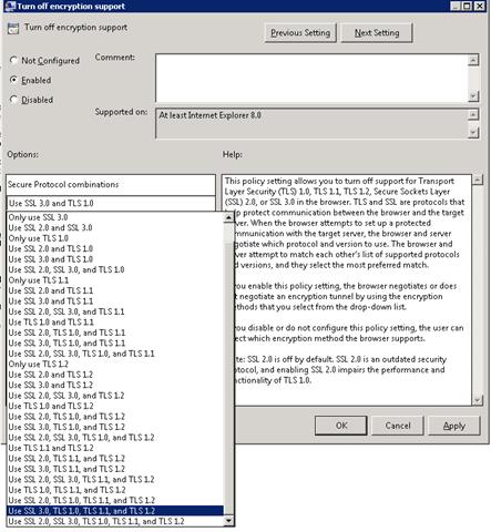Habilitando TLS 1 1 e TLS 1 2 no Internet Explorer 9 via