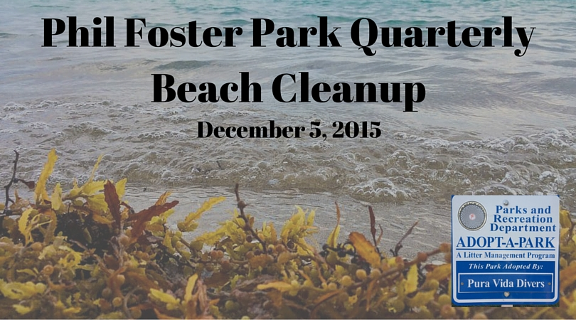 Phil Foster Park Quarterly Beach Cleanup