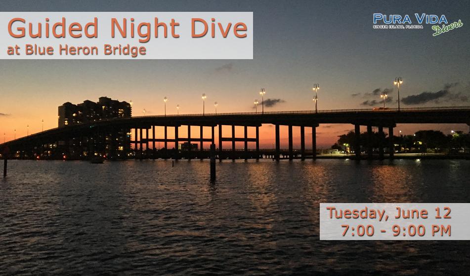 JUNE 12: GUIDED SUNSET DIVE AT BLUE HERON BRIDGE