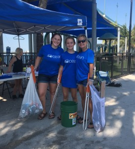 Volunteers remove trash from Phil Foster Park