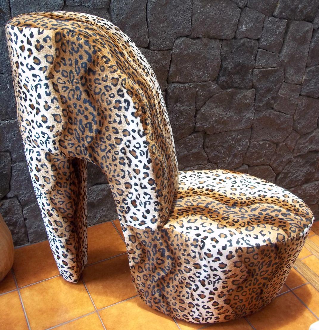 leopard high heel chair desk dublin todo pura vida