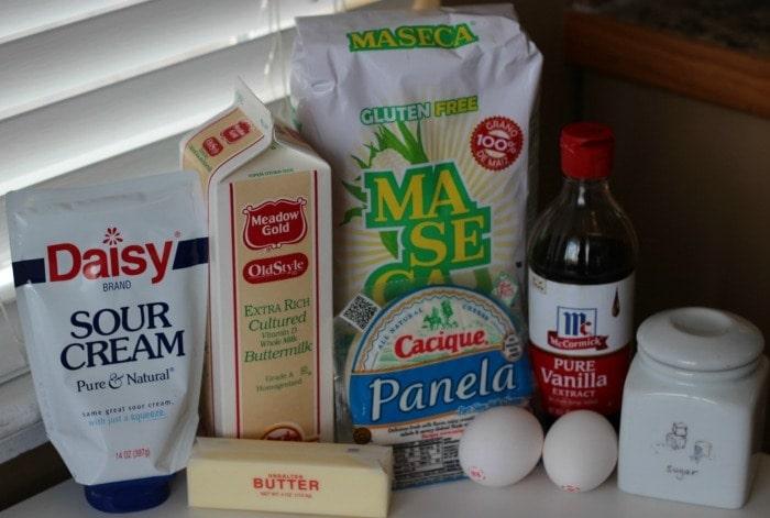 Costa Rican Tamal de masa ingredients