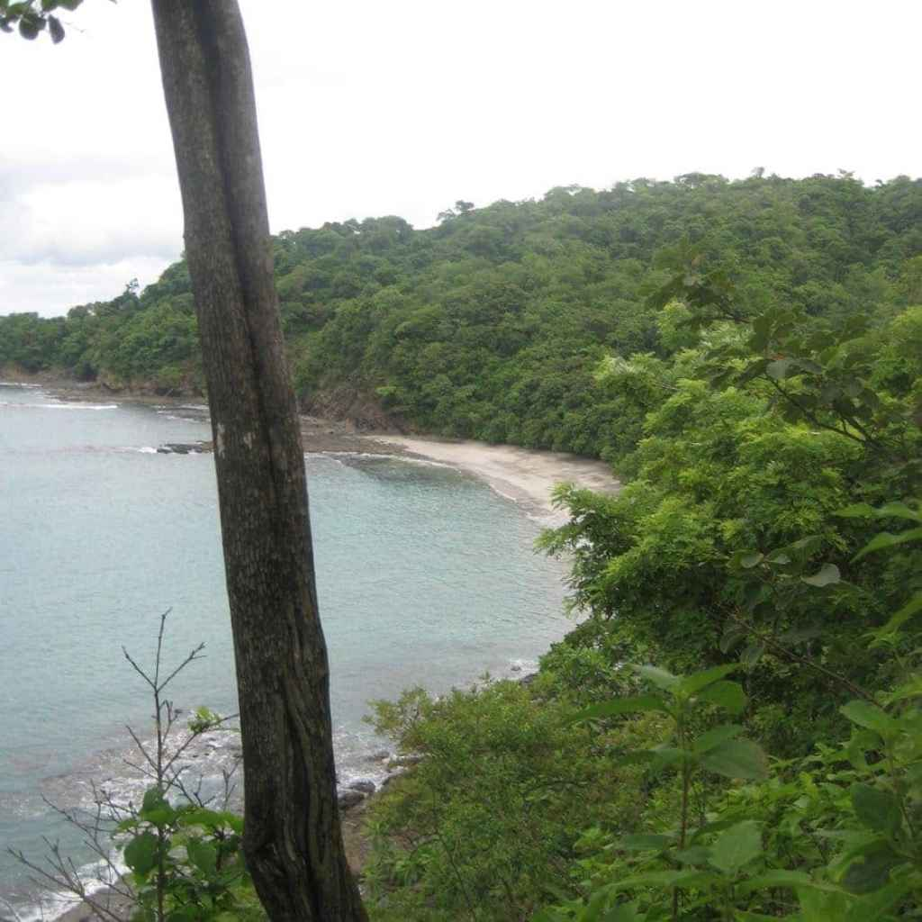 This is the view of Playa Dantita. It's a hike to get down there, but the beach is almost always deserted.