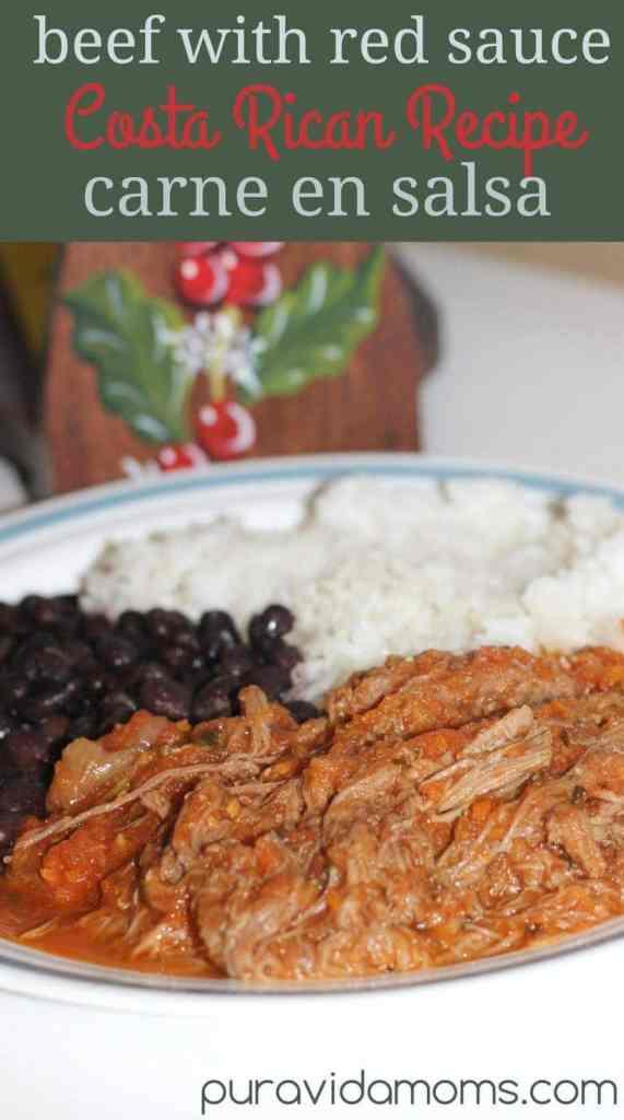 beef with red sauce costa rican recipe carne en salsa