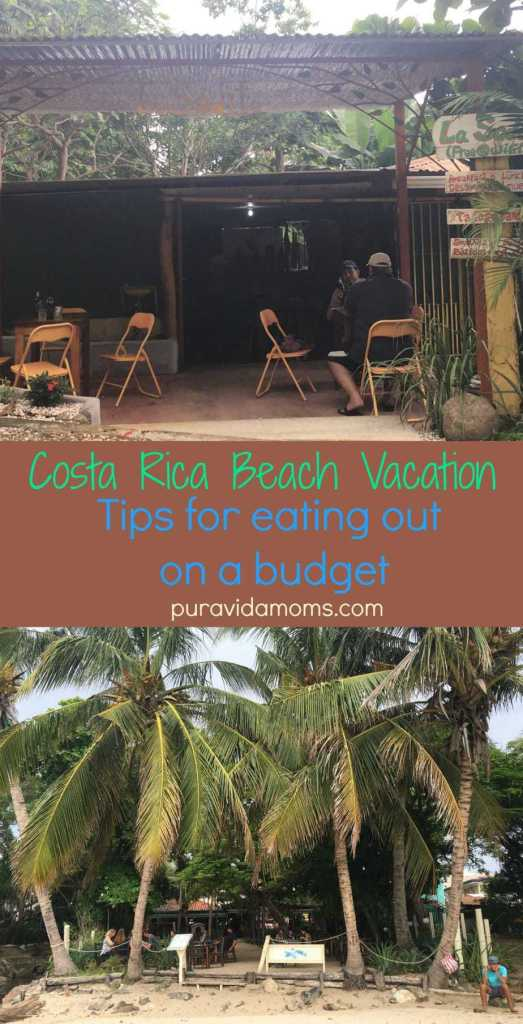 costa rica beach vacation tips for eating out on a budget