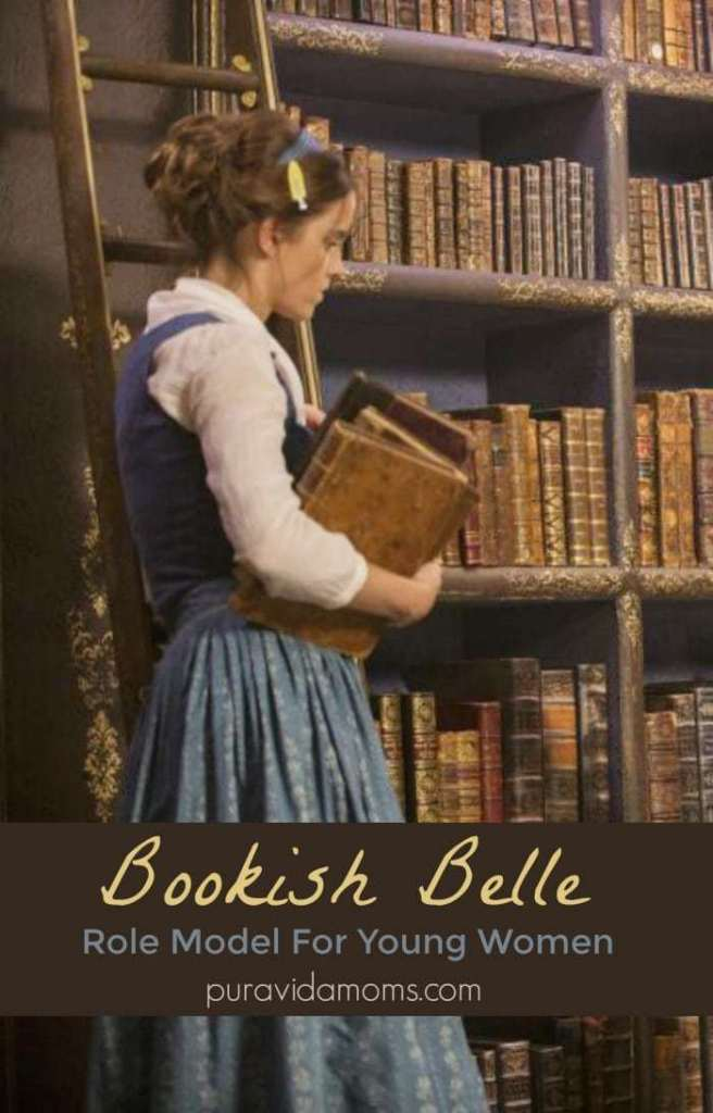 Bookish Belle in 2017's live action Beauty and the Beast