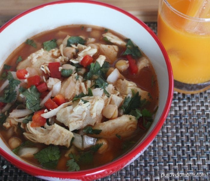 Slow Cooker Chicken Garbanzo Soup Recipe - Pura Vida Moms
