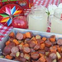 Smoked Sausage Apple and Sweet Potato Foil Packet Recipe