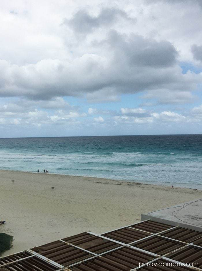 view from room hotel gran caribe cancun mexico pura vida moms