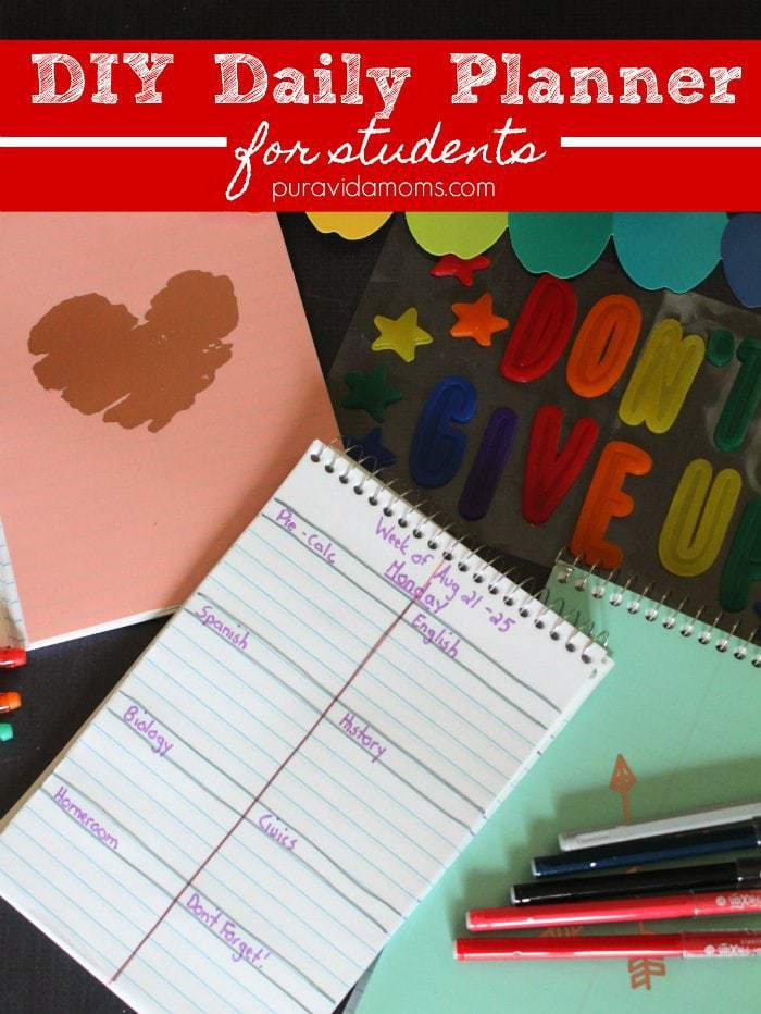 simple diy planner for students