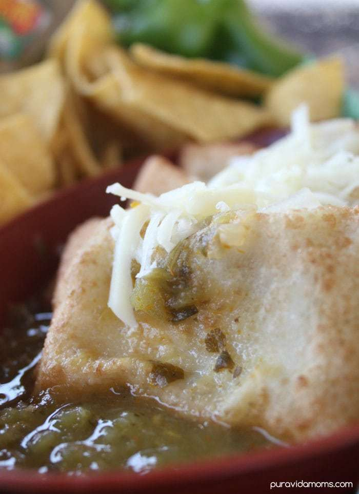Game Day Chile Rellenos Smothered in Chile Verde