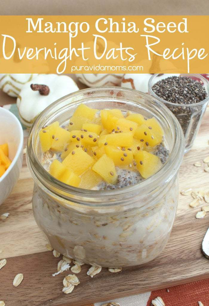 Mango Chia Overnight Oats Recipe