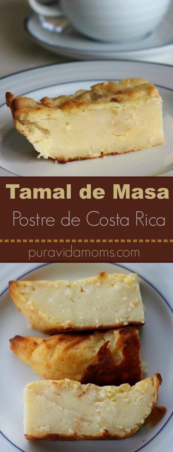 Receta tica tamal de masa postre de Costa Rica 2