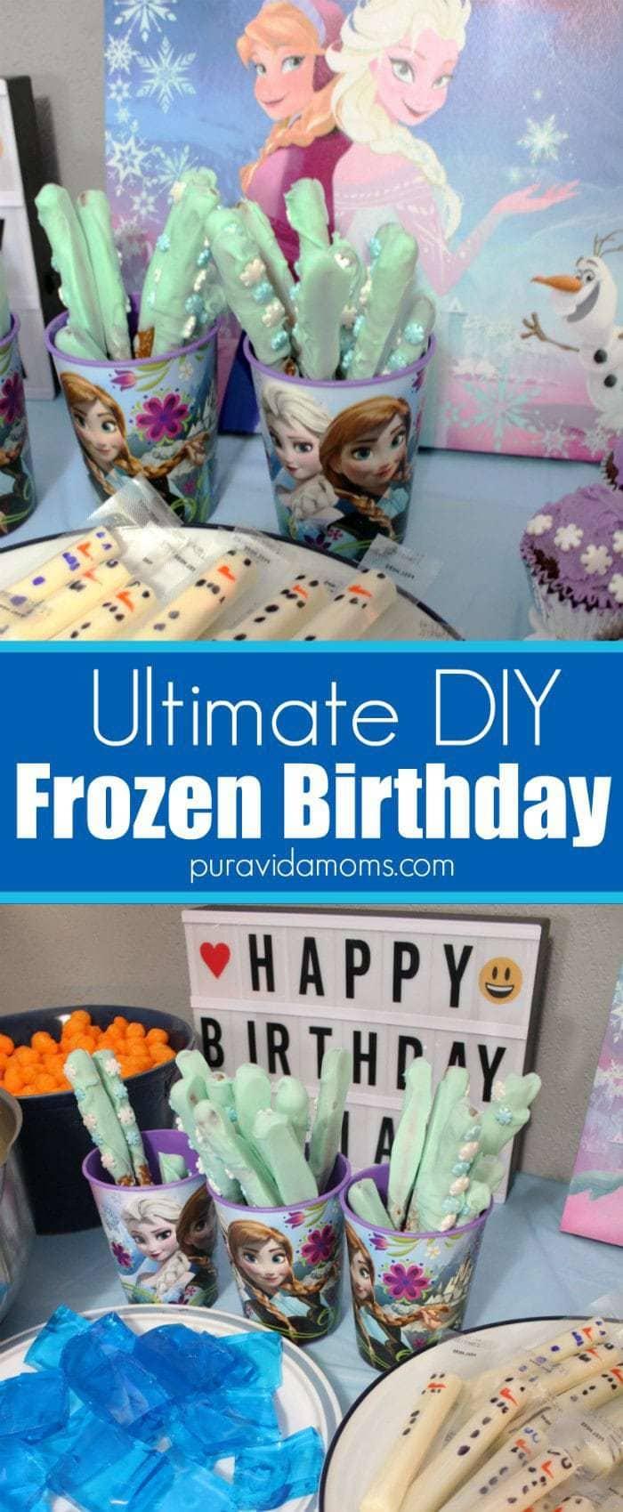 Ultimate DIY Frozen Birthday Party