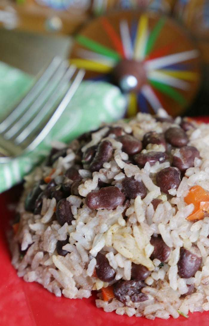 Costa Rican gallo pinto- the national dish and arguably the most memorable part of any Costa Rican vacation. Recreate the traditional Costa Rican gallo pinto recipe at home for the perfect breakfast or vegetarian side for any meal!