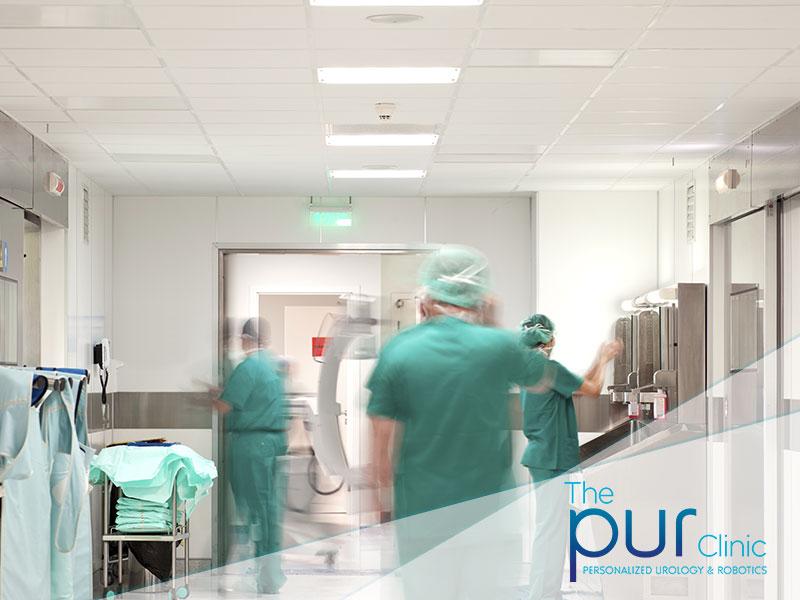 Busy hospital hall