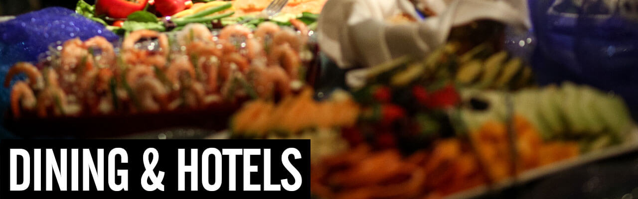 Dining and Hotels with image of Food Spread from 2015 Soiree