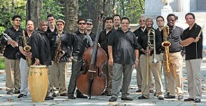 Arturo O'Farrill and members of the Afro Latin Jazz Orchestra