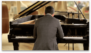 Inon Barnatan at Steinway and Sons factory