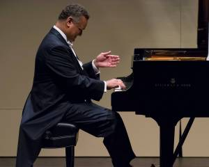 André Watts playing piano