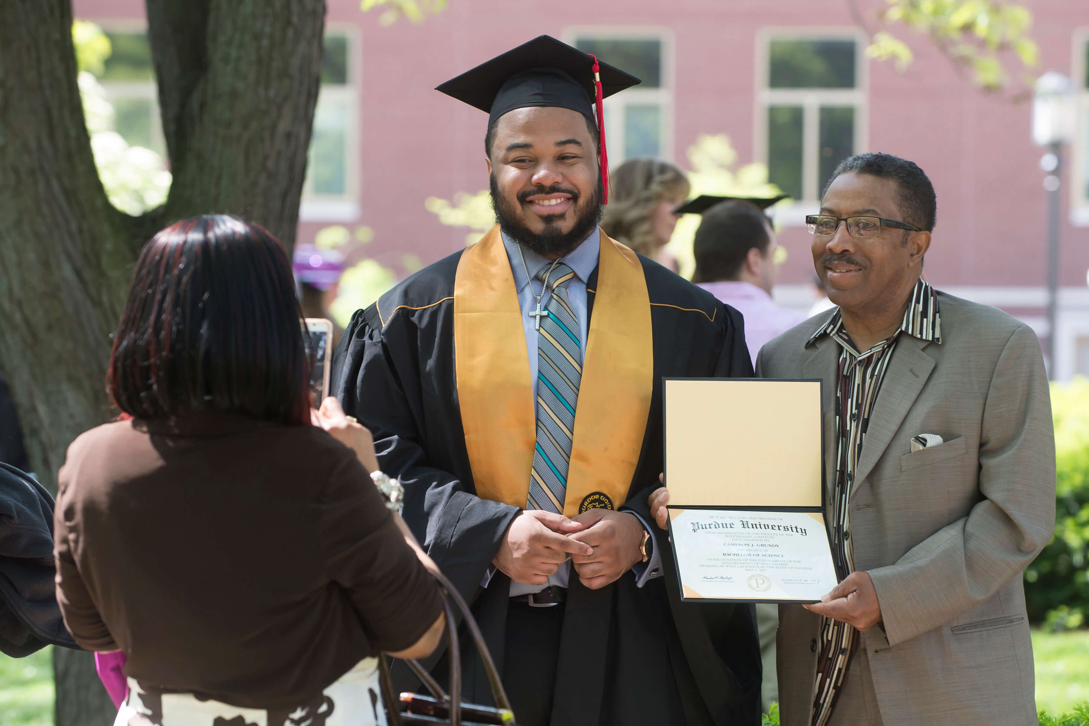 Purdues newest graduates receive degrees during