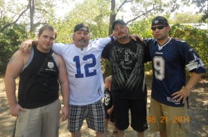 Chris, dad and my brothers