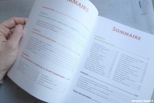 sommaire du guide slow cosmetique