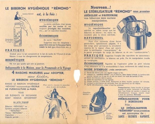 notice biberon remond
