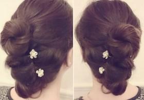 [Tuto coiffure] Spécial fêtes : Chignon fleur