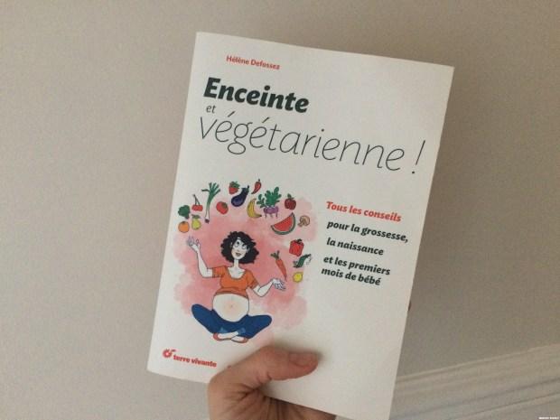 Enceinte et végétarienne couverture