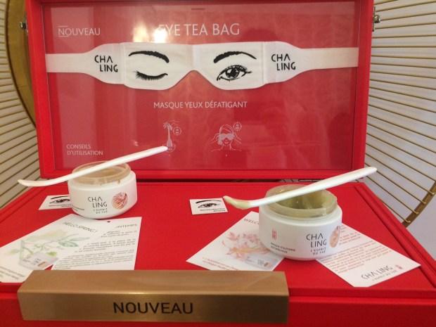 cha ling eye tea bag et masques de saison