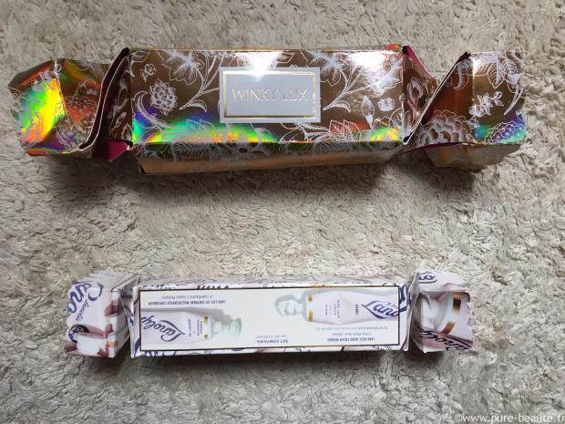 crackers de noël winky lux et lanolips