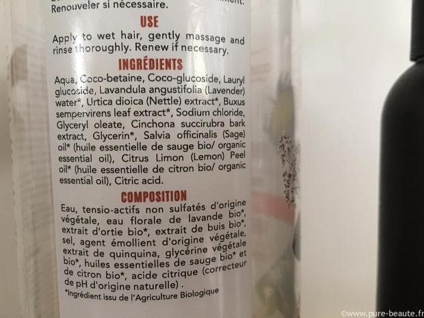 liste ingrédients sans sulfate
