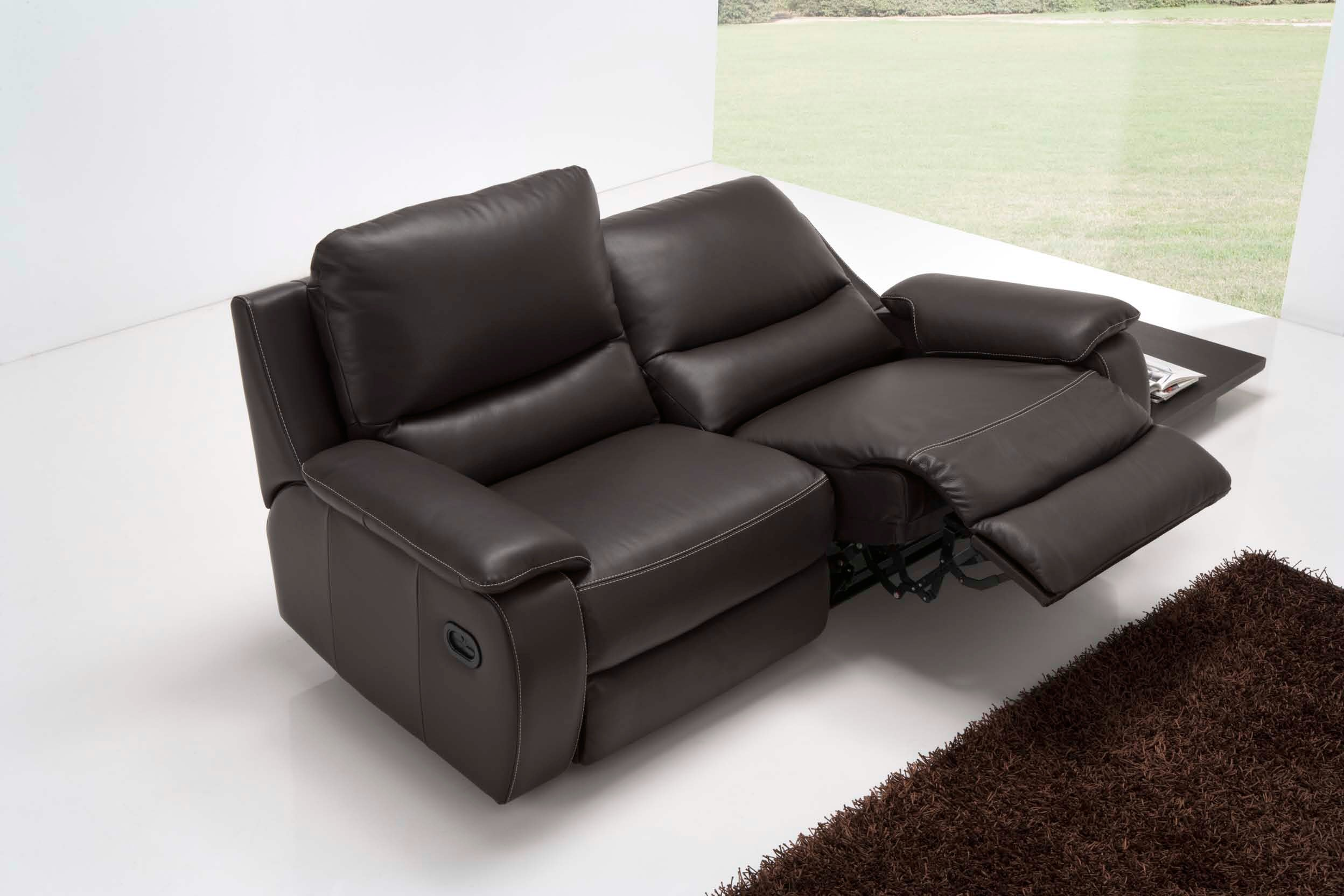 modena 2 seater reclining leather sofa tidafors corner measurements alexis pure comfort furniture