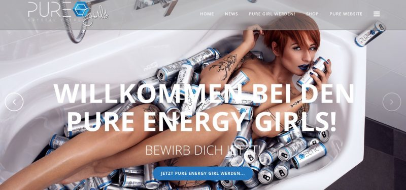 PURE Energy Drink Girls - Casting - Homepage