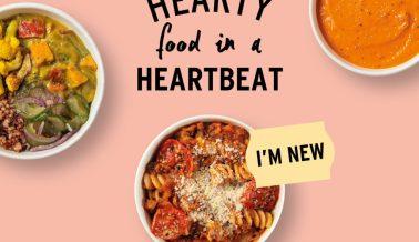 New & hearty hot food menu